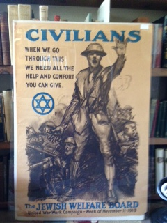 Image for Original World War I Era Poster - The Jewish Welfare Board