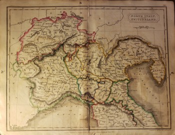 Map Of North Italy.Original Map North Italy And Switzerland