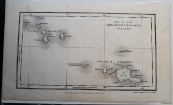"Image for Original Map - ""Map of the Georgian and Society Islands."""