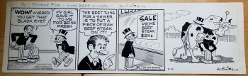 Image for Original Comic Strip Art - Al Smith.  Mutt and Jeff.  May 31, 1973