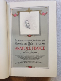 Image for The Authorized English Translations of the Novels and Short Stories of Anatole France.